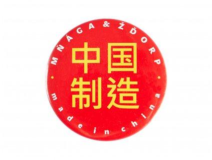 Červená placka Made in China