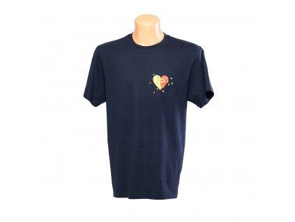 triko Třecí plochy pánské tmavě modré