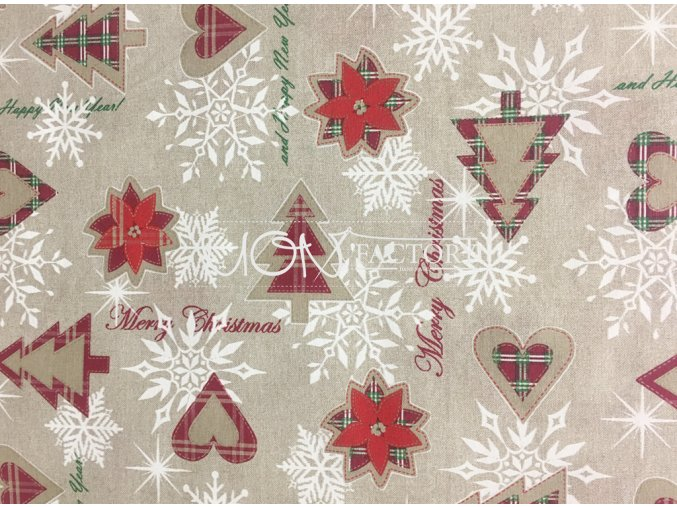 Vianoce bavlna Chrystmas