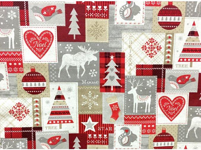 Vianoce bavlna noel