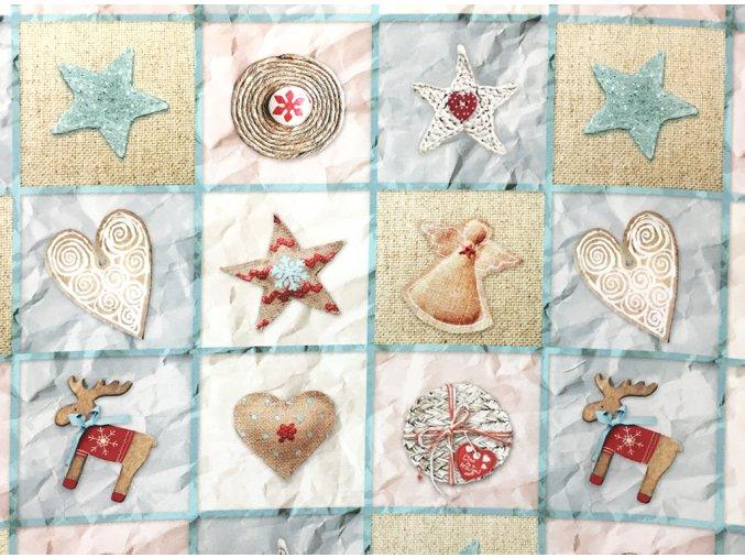 Vianoce bavlna stvorceky