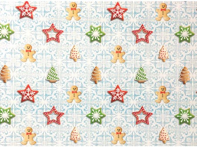 Vianoce bavlna Perníček