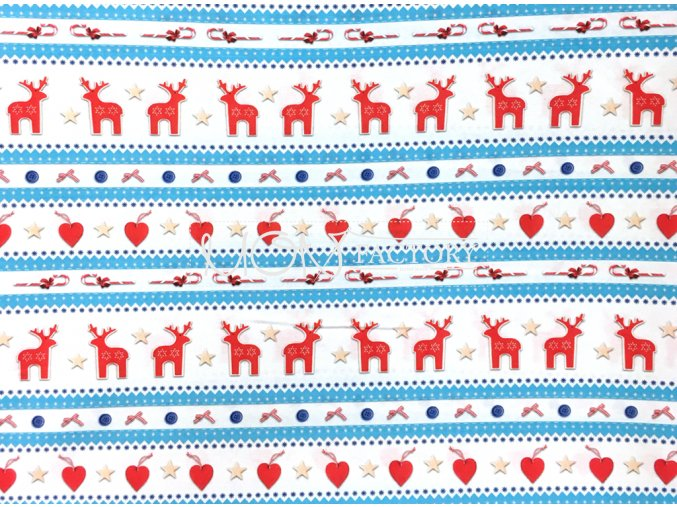 Vianoce bavlna dekor