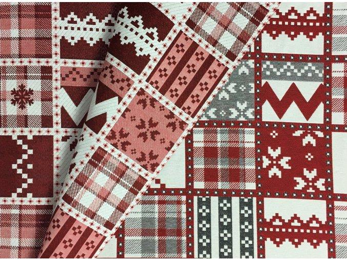 Vianoce bavlna Obojstranna stvorce a