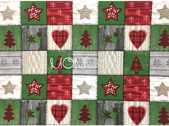 Vianoce bavlna Scandy