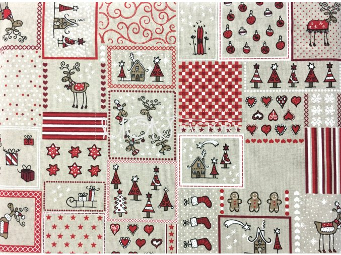 Vianoce bavlna MIX