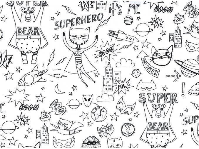 Vyfarbovacie Superhero
