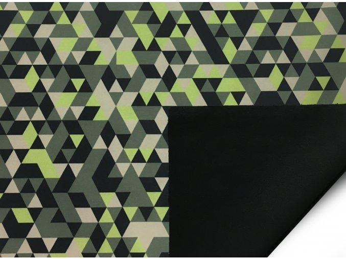 softshell trojuholnik zeleny