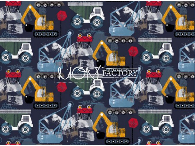 BAVLNENÝ ÚPLET - Stavebné autá 003