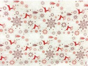 Vianoce bavlna jelen