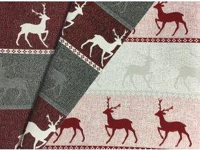 Vianoce bavlna Obojstranna jelen
