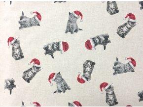 Vianoce bavlna Macicka