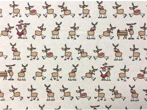Vianoce bavlna soby