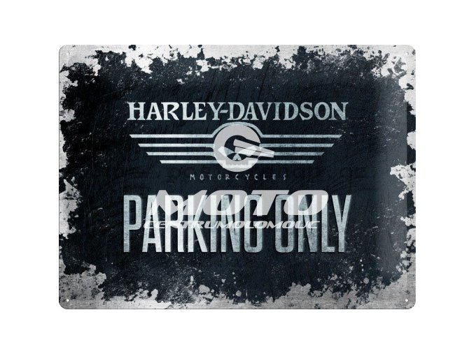 Retro cedule Harley Davidson Parking Only II 30x40