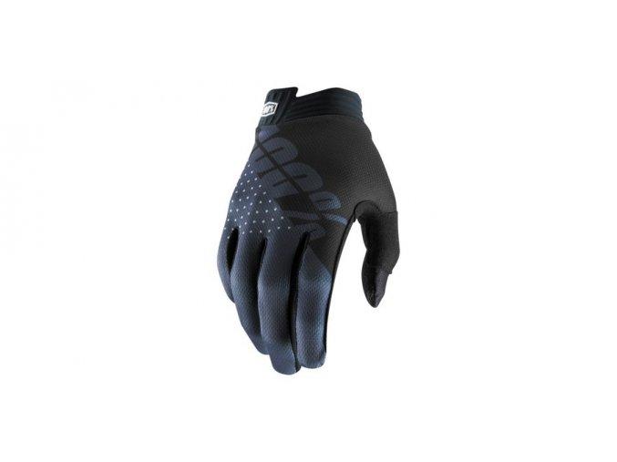 rukavice itrack 100 cerna seda i421725