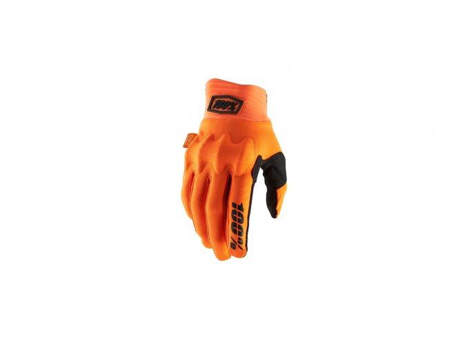 rukavice cognito 100 fluo oranzova cerna i364910