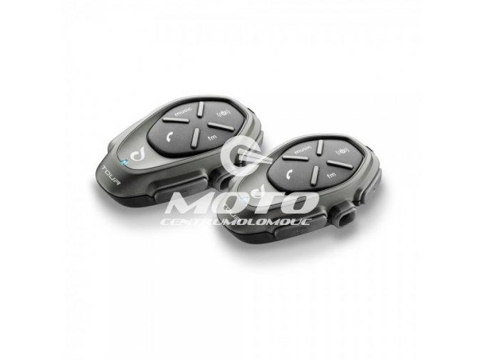 Bluetooth handsfree pro uzavřené a otevřené přilby CellularLine Interphone TOUR Twin Pack
