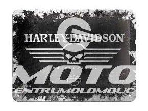 Cedule Harley Davidson (černobílé logo)