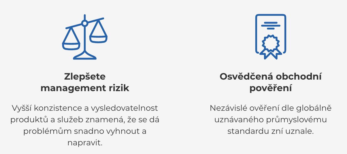 Certifikace podle ISO 9001