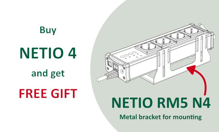Buy NETIO 4 and get rack mount kit RM5