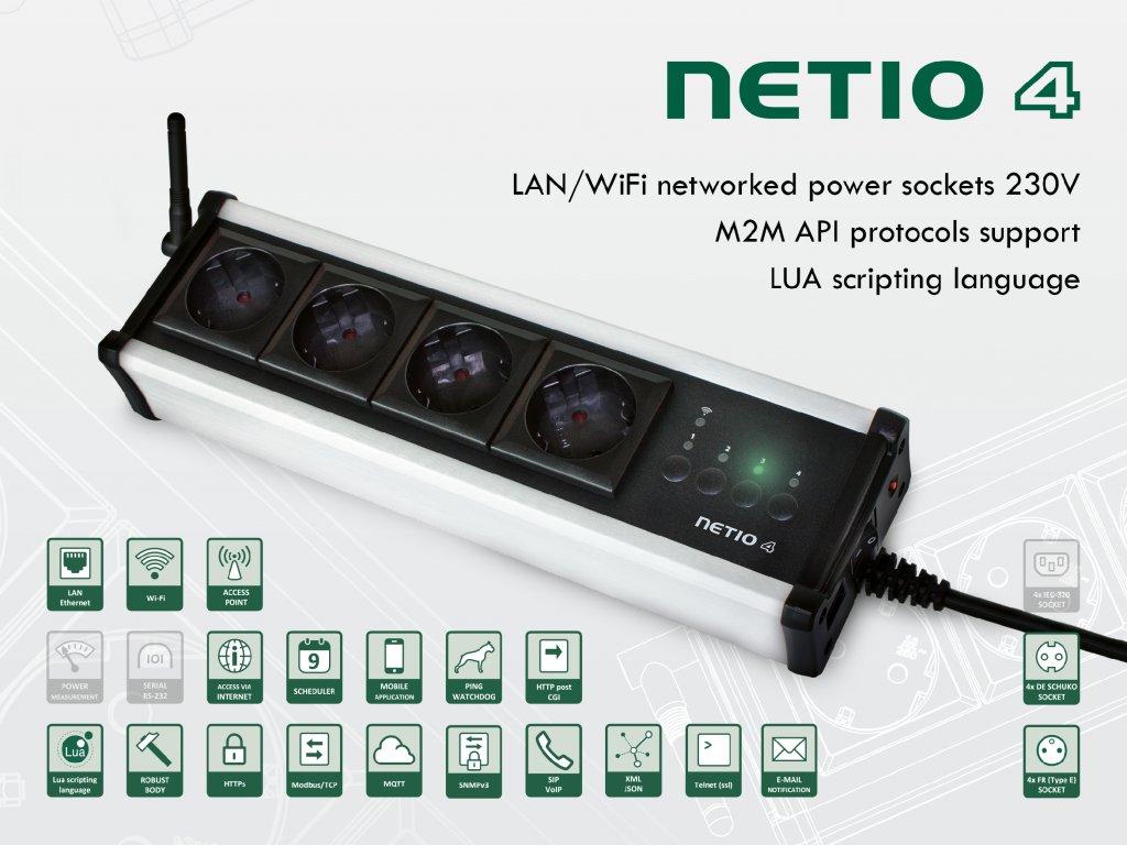 NETIO 4 wifi controlled power strip