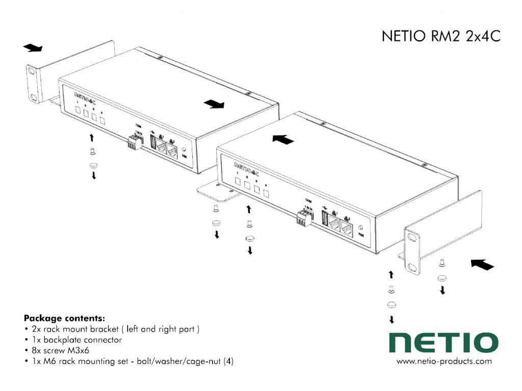 NETIO RM2 2x4C scheme 1200