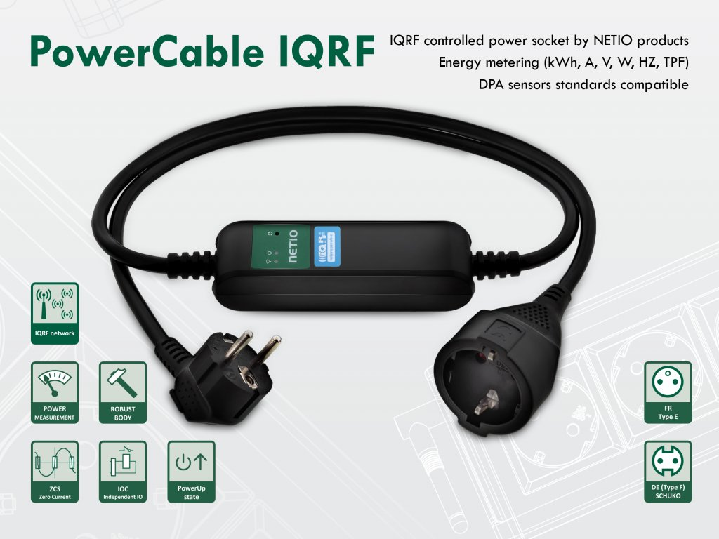 PowerCable IQRF LPWAN power socket