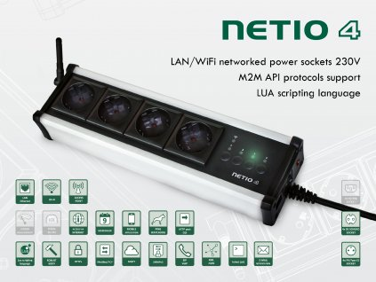 NETIO 4 wifi controlled power strip