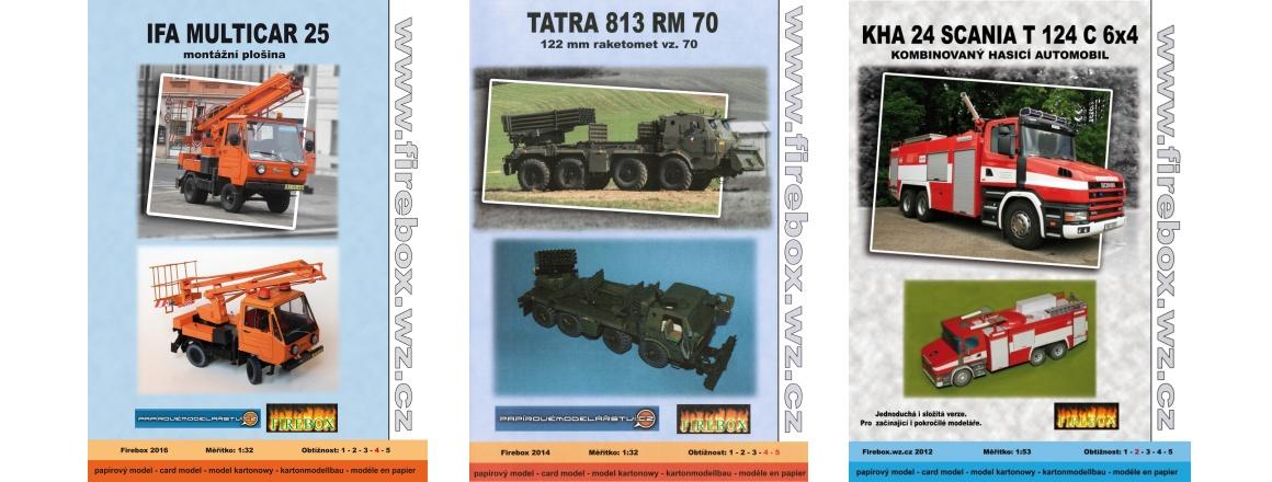 IFA Multicar - Tatra 813 RM 70 - KHA 24 Scania T 124 6x4 - CZ Firebox