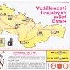 vzdálenosti krajských měst ČSSR
