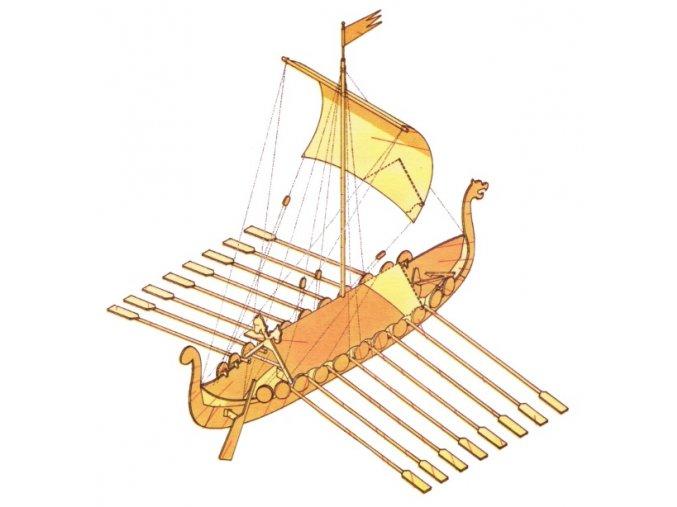 vikinská loď drakkar