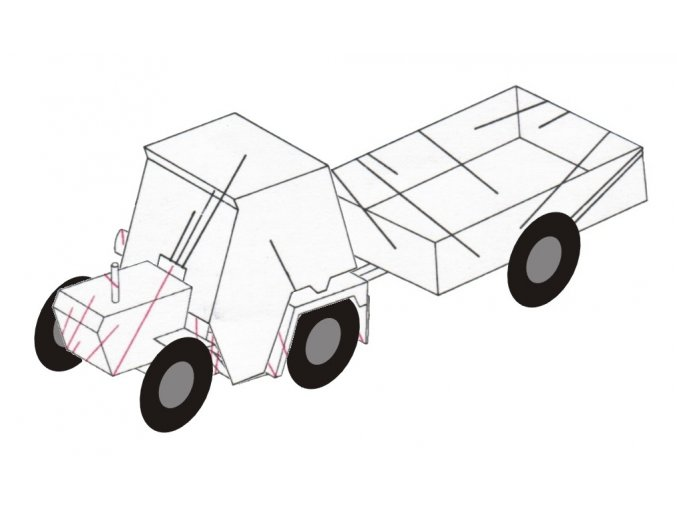 Agro-trac-8-050 + kabina + přívěs