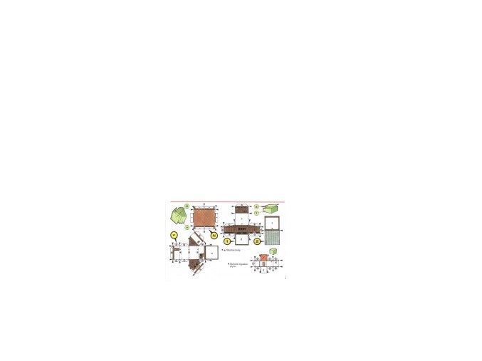 obytná chata (2ks) + stanice regulace plynu