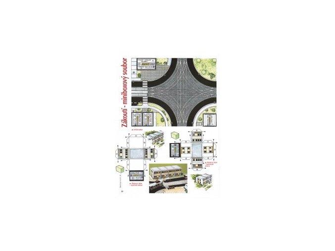 Křižovatka + 2x Řadový dům - typická + koncová sekce + čp. 73 Maršíkovi + potraviny LS + listnatý háj
