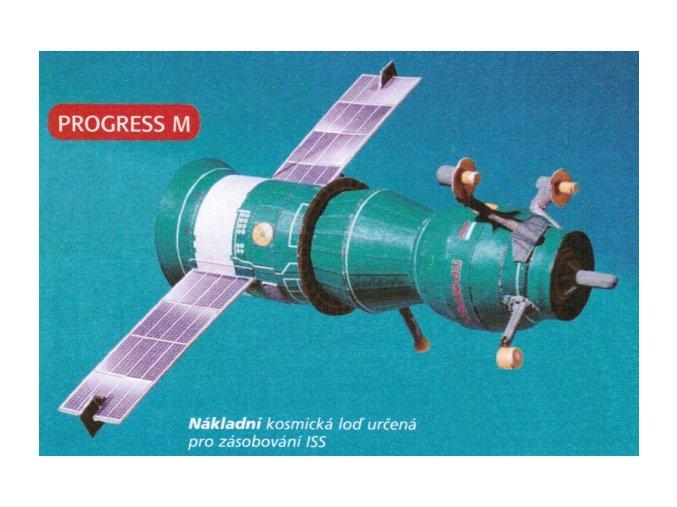 Progress M (zelený) + fotovoltaické sluneční články (33 černý)