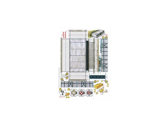 hangár typ C + 3x AKU vozík + 2x L 410 Turbolet
