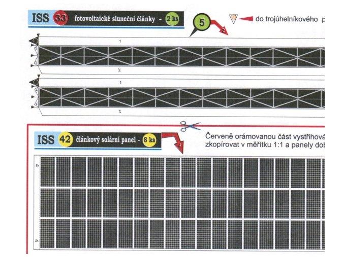 článkový solární panel (42 černý) + fotovoltaické sluneční články (33 nosník)