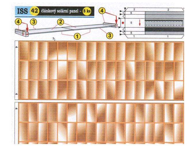 článkový solární panel (42 zlatý 2x)