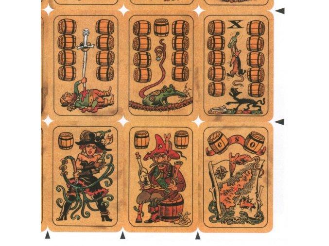 pirátské hrací karty - bez rubu