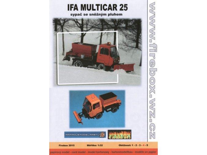 Ifa Multicar 25 - sypač se sněžným pluhem