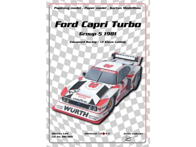 Ford Capri Turbo Zakspeed Racing