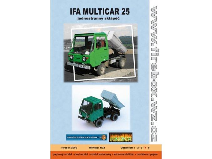 Ifa Multicar 25 - jednostranný sklápěč