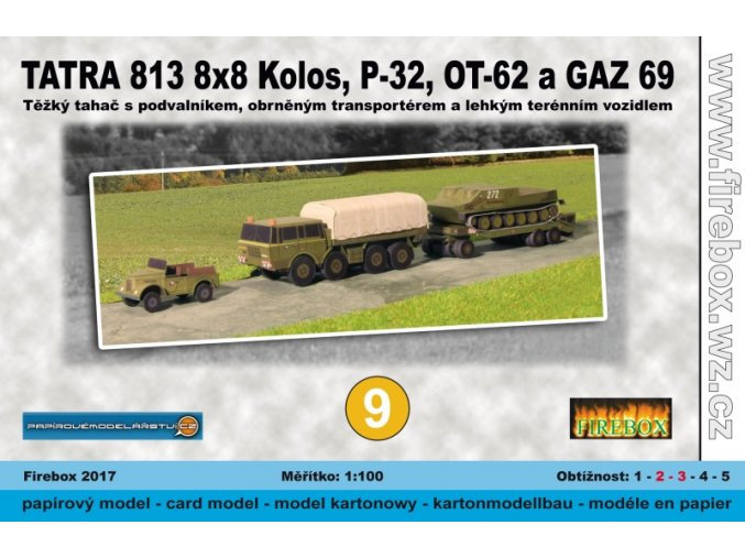 Tatra 813 8x8 Kolos + P-32 + OT-62 Topas + GAZ 69