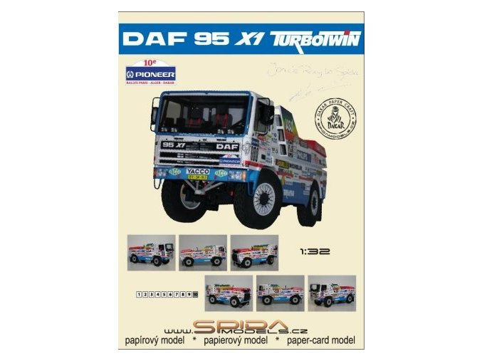 DAF 95 X1 TURBOTWIN - Dakar 1988 [600]