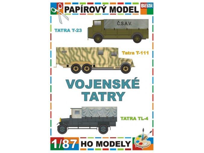 Tatra T-23 + Tatra T-111 + Tatra TL-4 (Vojenské Tatry / Army trucks Tatra)