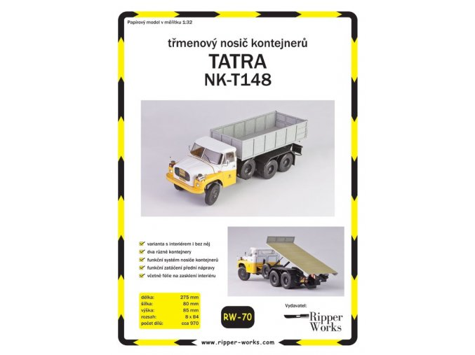 Tatra NK-T148 - třmenový nosič kontejnerů