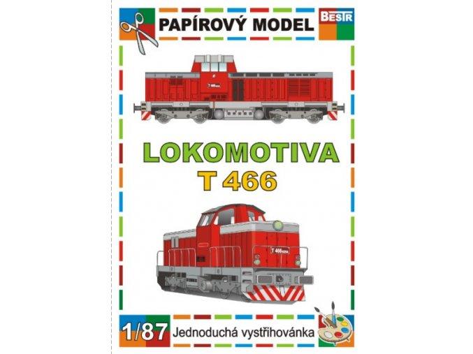 T 466 - Pilštyk - dieselová lokomotiva řady 735
