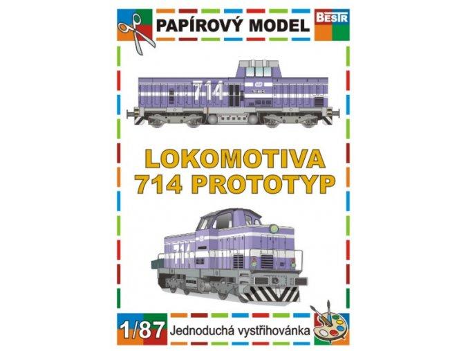 714 - Lachtan - dieselová lokomotiva - prototyp