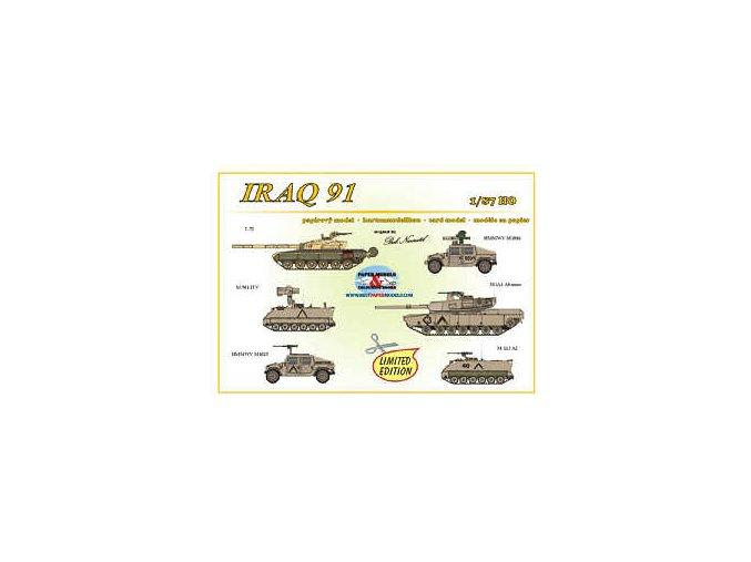 Iraq 91 -- T-72, HMMWV M1046, M 901 ITV, M1A1 Abrams, HMMWV M1025, M 113 A2