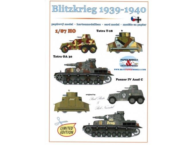 Blitzkrieg 1939-1940 - 2× Tatra OA 30, 2× Tatra T-18, 2× Panzer IV Ausf C